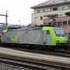 2) BLS, 485 009 (91 85 4485 009-5 CH-BLSC) at Spiez on 21st January 2014