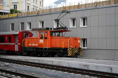 RhB, 215 at Chur on 8th June 2007