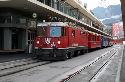 RhB, 619 at Chur on 8th June 2007