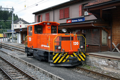 RhB,120 at Reichenau Tamins on 8th June 2007