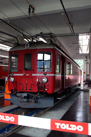 2) RhB, 501 at Landquart RhB Depot on 10th May 2014