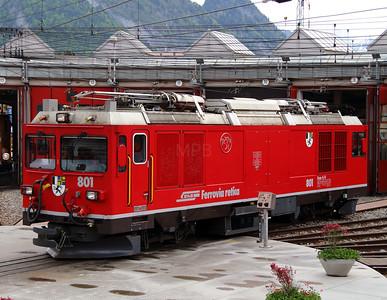 5) RhB, 801 at Landquart RhB Depot on 10th May 2014