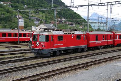 2) RhB, 632 at Landquart RhB Depot on 10th May 2014