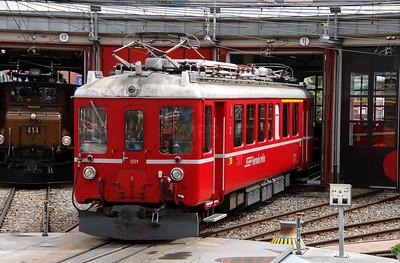 5) RhB, 501 at Landquart RhB Depot on 10th May 2014
