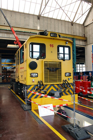 RhB, 95 at Landquart RhB Depot on 10th May 2014