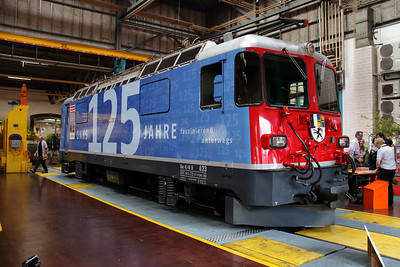 1) RhB, 623 at Landquart RhB Depot on 10th May 2014