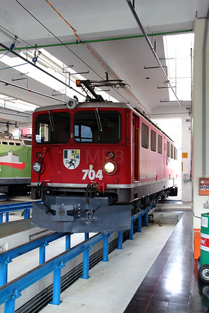 RhB, 704 at Landquart RhB Depot on 10th May 2014 (1)