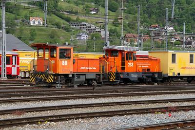 1) RhB, 88 at Landquart RhB Depot on 10th May 2014