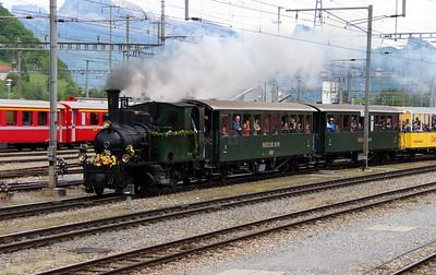 1) steam, RhB, 1 at Landquart RhB Depot on 10th May 2014