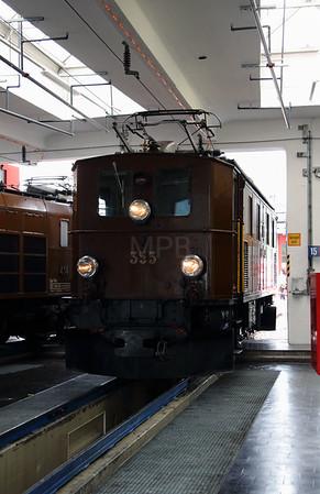 RhB, 353 at Landquart RhB Depot on 10th May 2014 (2)
