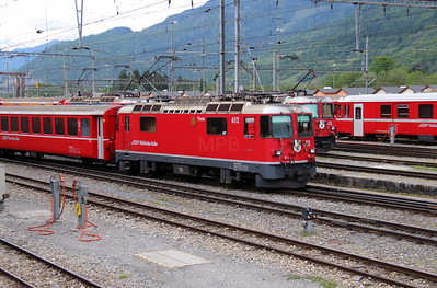 RhB, 612 at Landquart RhB Depot on 10th May 2014 (2)