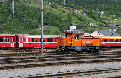 1) RhB, 231 at Landquart RhB Depot on 10th May 2014