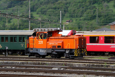 2) RhB, 231 at Landquart RhB Depot on 10th May 2014