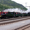 2) steam, RhB, 1 at Landquart RhB Depot on 10th May 2014