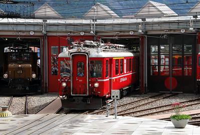 3) RhB, 501 at Landquart RhB Depot on 10th May 2014