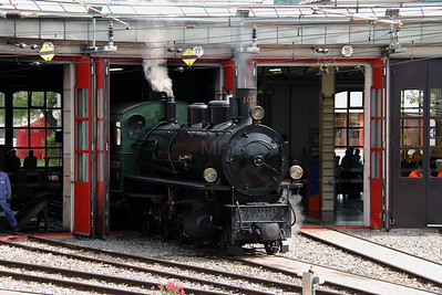 steam, RhB, 108 at Landquart RhB Depot on 10th May 2014