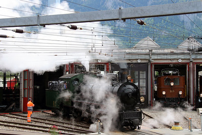 steam, RhB, 108 at Landquart RhB Depot on 10th May 2014 (7)