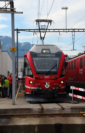 RhB, 3501 at Landquart RhB Depot on 10th May 2014