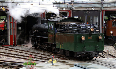 steam, RhB, 108 at Landquart RhB Depot on 10th May 2014 (2)