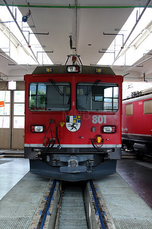2) RhB, 801 at Landquart RhB Depot on 10th May 2014