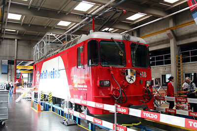 RhB, 618 at Landquart RhB Depot on 10th May 2014