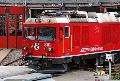 7) RhB, 801 at Landquart RhB Depot on 10th May 2014