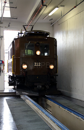 RhB, 222 at Landquart RhB Depot on 10th May 2014 (1)