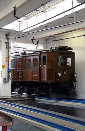 RhB, 222 at Landquart RhB Depot on 10th May 2014 (2)