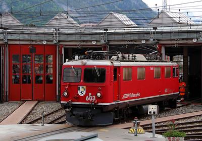 RhB, 603 at Landquart RhB Depot on 10th May 2014 (4)