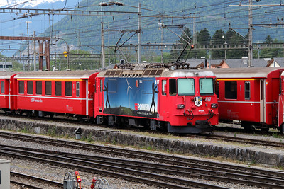 RhB, 617 at Landquart RhB Depot on 10th May 2014