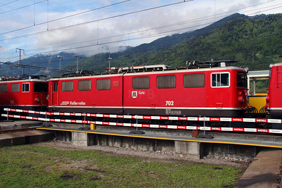 1) RhB, 702 at Landquart RhB Depot on 10th May 2014