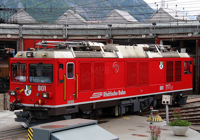 6) RhB, 801 at Landquart RhB Depot on 10th May 2014