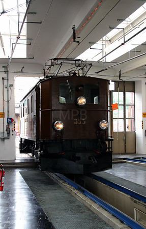 RhB, 353 at Landquart RhB Depot on 10th May 2014 (1)