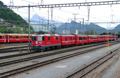 1) RhB, 632 at Landquart RhB Depot on 10th May 2014