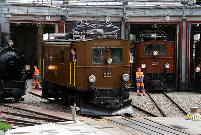 RhB, 222 at Landquart RhB Depot on 10th May 2014 (4)