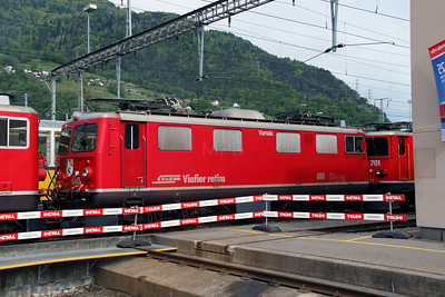 1) RhB, 610 at Landquart RhB Depot on 10th May 2014