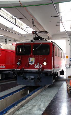 RhB, 603 at Landquart RhB Depot on 10th May 2014 (2)