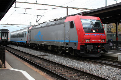484 017-9 (E484 017 SR) at Thun on 31st October 2005