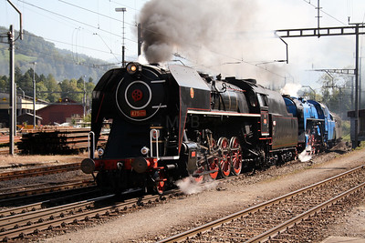 Steam, 475 179 & 498 022 at Arth Goldau on 10th September 2007 (1)