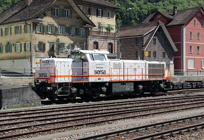 2) Sersa, 843 152 at Erstfeld on 26th August 2010