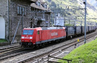 DB, 185 104 at Goschenen (Switzerland) on 26th August 2010