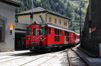 MGB, 55 at Goschenen on 26th August 2010