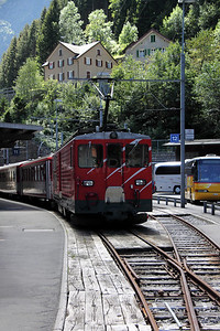 MGB, 93 at Goschenen on 26th August 2010