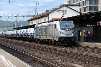 Railpool, 187 008 (91 80 6187 008-8) at Liestal on 16th September 2015