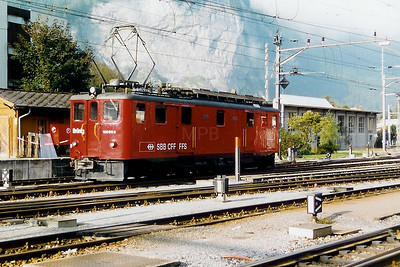 120 011 at Meiringen on 17th September 1999