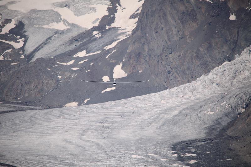 Coming down the Aletsch glacier