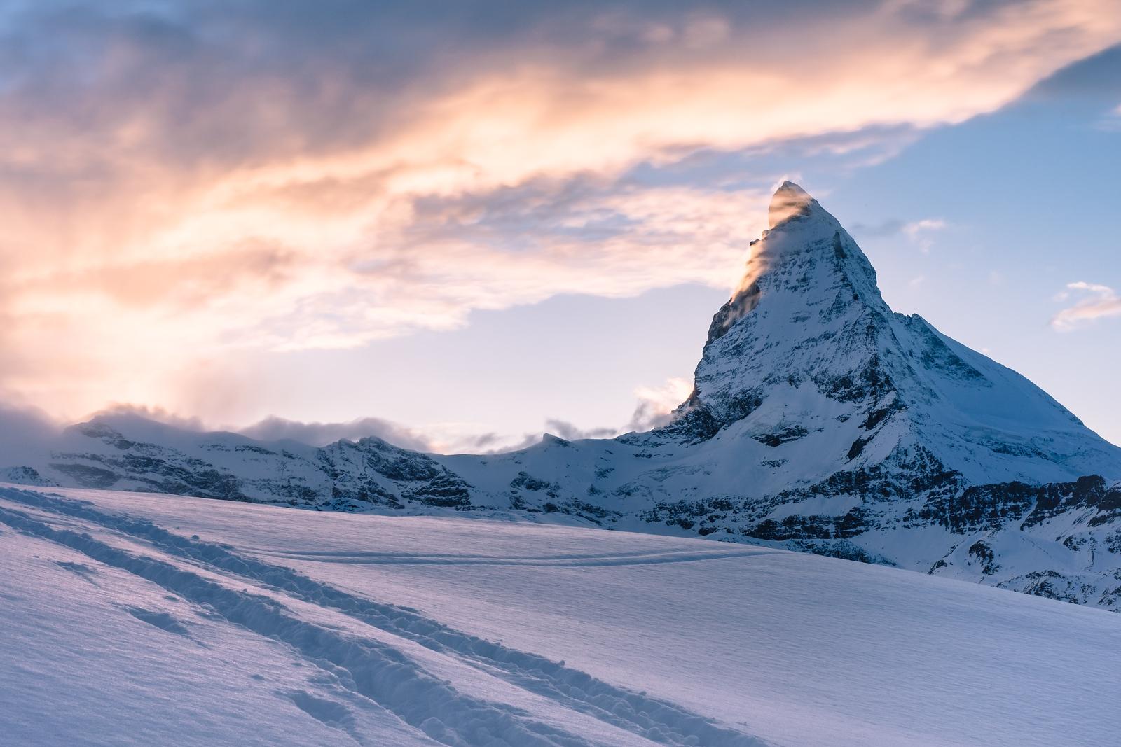 The Matterhorn at sunset