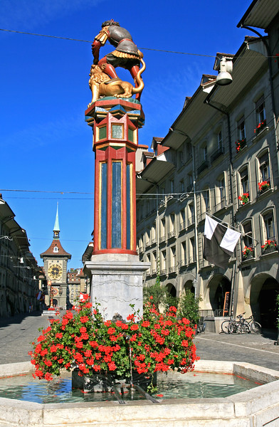 Samsonbrunnen, Bern / Fontaine de Samson, Berne