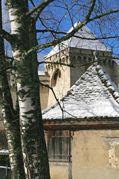 Chillon castle first snow / Première neige au château de Chillon