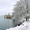 Chillon Castle winter scene / Château de Chillon en hiver